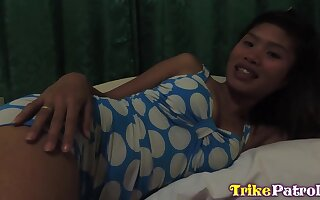 Quite appetizing Asian slut with big boobs Ella loves riding strong cock