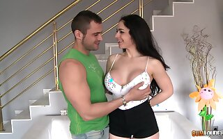 Amazing busty brunette Marta La Croft is Spanish cock riding expert
