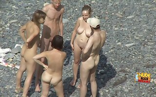 Outdoor group sex of real amateur swingers