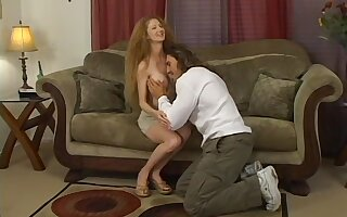 Man with steel dick shows this busty doll proper sex