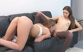 Alexis and Talia Mint meet in an office and are eventually hooking up