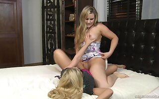 Sensual blondes love a bit of scissoring during their cam play