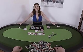 Poker game leads to insane VR sex with the busty doll