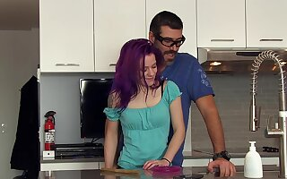 Amateur gets laid with step daddy after she sucks his dick