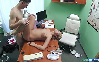 Hot lad fucks the secretary on hidden cam