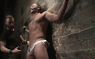 Gay porn in BDSM scenes for horny couple