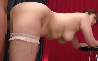Sexy Japan mom treats herself with a strong dick