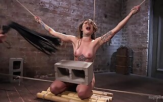Obedient girl screams while being clamped and brutally fucked