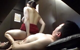 Excellent scenes with the JAV mom riding cock in reverse