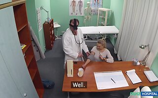 Young blonde Kristine's doctor does not observe hallucinogenic standards