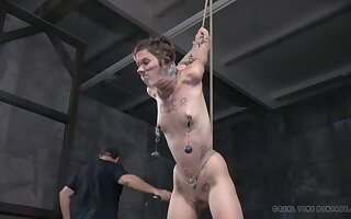 Skinny model Mercy West affianced and tortured by Abigail Dupree