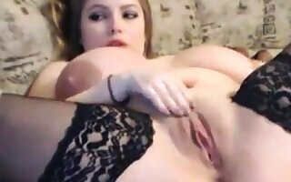 Third of Big titted Woman masturbate superior to before cam