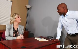Mature is ready be fitting of her big dose of BBC at be transferred to office