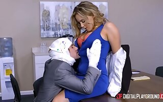All office workers spy on boss fucking sexy scrivener Natasha Nice