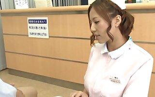 Naughty Japanese safe keeping Saijou Ruri loves playing with a stiff shaft